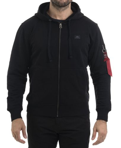 Alpha Industries X-Fit Zip - Huvtröjor - Svart (193158322-03)
