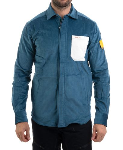 Amundsen Flypatch Field - Skjorta - Faded Blue (MSH53.1.520-XL)