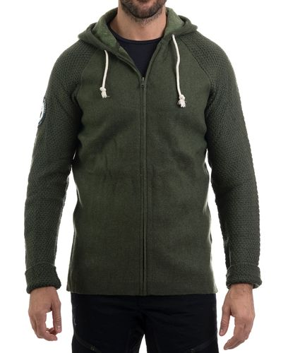 Amundsen Boiled Hoodie Jacket - Tröja - Earth (MSW15.2.410.L)