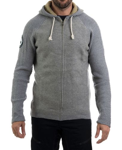 Amundsen Boiled Hoodie Jacket - Tröja - Light Grey (MSW15.2.800.L)