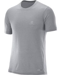 Salomon Explore SS - T-shirt - Grå (L39315600)