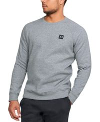 Under Armour Rival Fleece Crew - Tröja - Grå (1320738-036)