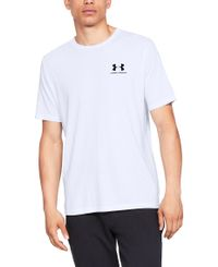 Under Armour Sportstyle Left Chest - T-shirt - Vit (1326799-100)
