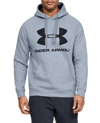Under Armour Rival Fleece Logo - Huvtröjor - Grå (1345628-035)