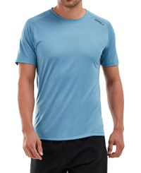 2XU GHST - T-shirt - Denim/ Black Reflective (MR5663a-dbr)