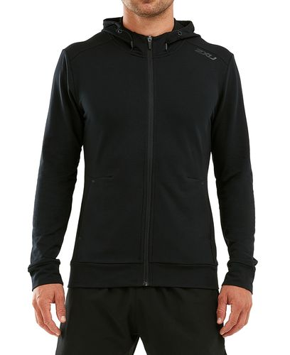 2XU Transit Zip - Huvtröjor - Svart (MR6040a)