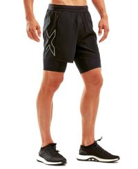 2XU XVENT 5'' 2in1 Comp - Shorts - Black/ Silver Reflective (MR6079b)