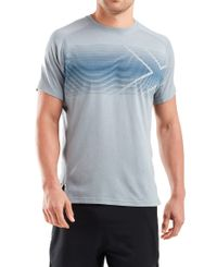 2XU Training - T-shirt - Grey Marle/ Stellar (MR6094a-gms)