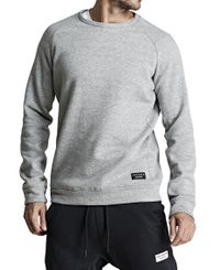 Björn Borg BB Centre Crew - Genser - Light Grey Melange (9999-1115-90741)