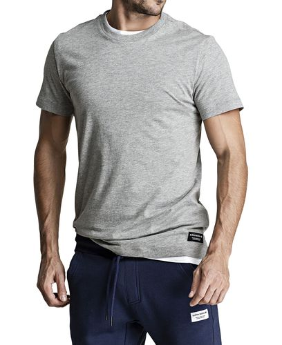 Björn Borg BB Centre Regular Tee - T-shirt - Light Grey Melange (9999-1118-90741)