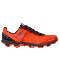 On Cloudventure Peak Womens - Sko - Flame/Shadow
