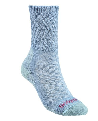 Bridgedale Hike Lightweight Comfort Womens - Strumpor - Powder Blue (BD619-438)