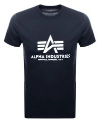 Alpha Industries Basic T - T-shirt - Marinblå (100501-02)
