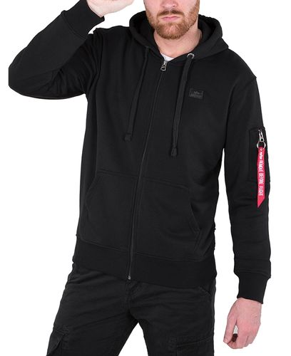 Alpha Industries X-Fit Zip Hoody - Huvtröjor - Svart (158322-03)