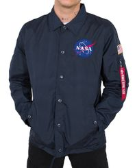 Alpha Industries NASA Coach - Jacka - Rep. Blue (126137-07)