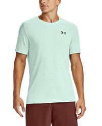 Under Armour Seamless - T-shirt - Seaglass Blue/Black