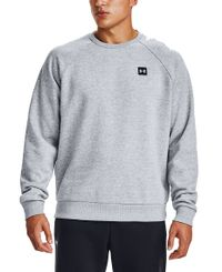 Under Armour Rival Fleece Crew - Tröja - Gray/Onyx White (1357096-011)