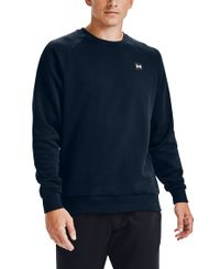 Under Armour Rival Fleece Crew - Tröja - Academy/ Onyx White (1357096-408)