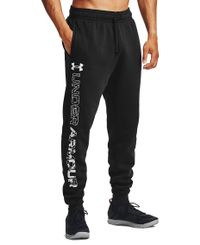 Under Armour Rival Flc Graphic Joggers - Black/ White (1357130-001)