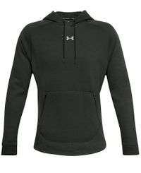 Under Armour Charged Cotton Fleece - Tröja - Baroque Green/ Black (1357079-310)