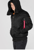 Alpha Industries MA-1 Hooded - Jacka - Svart (158104-03)