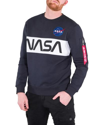 Alpha Industries NASA Inlay - Tröja - Blå (178308-07)