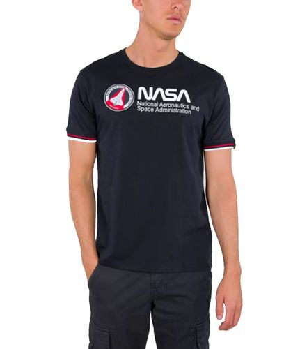Alpha Industries NASA Retro - T-shirt - Blå (128512-07)
