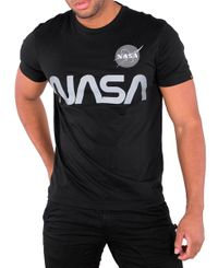 Alpha Industries NASA Reflective - T-shirt - Svart (178501-03)