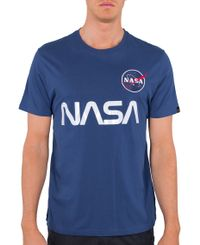 Alpha Industries NASA Reflective - T-shirt - Blå (178501-539)