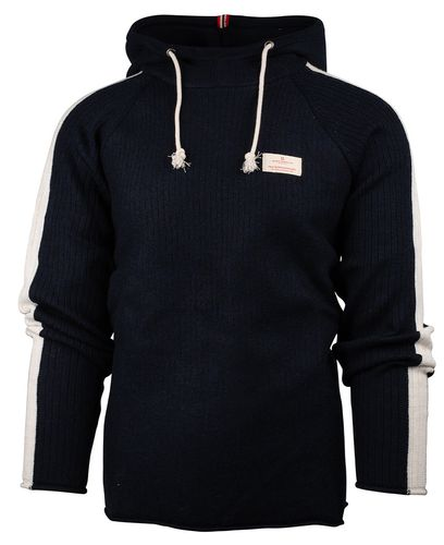 Amundsen Boiled Hoodie Stripes - Tröja - Faded Navy (MSW14.2.590)