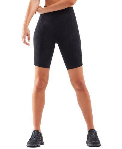 2XU Fitness New Heights Womens - Sykkelshorts - Embossed Blossom Camo/ Black (WA6161b)