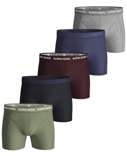 Björn Borg Seasonal Solid Essential 5pk - Boxershorts - Oil Green (2031-1041-81421)
