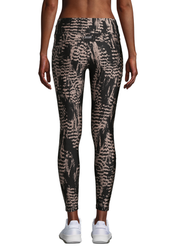 Casall Iconic Printed 7/8 - Tights - Survive Grey Metallic (21500-186)
