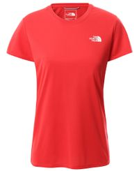 The North Face W Reaxion Amp Crew - T-shirt - Horizon Red (00CE0TV331)