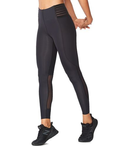 2XU Breeze Mesh Hi-Rise Women - Tights - Cranberry/ Rosette (WR6447b-CR)