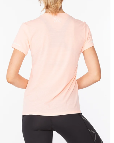 2XU Aero Women - T-shirt - Pop Coral/ White (WR6565a-POP)