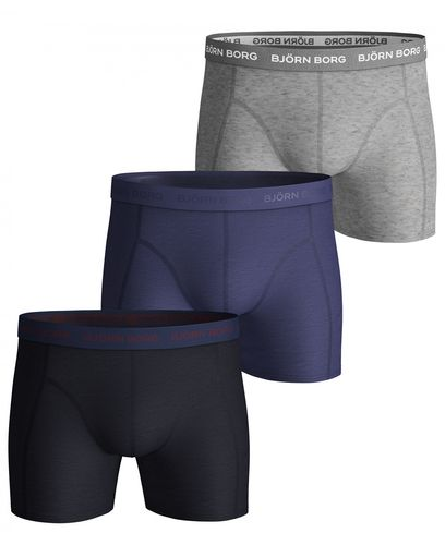 Björn Borg Seasonal Solid Essential 3pk - Boxershorts - Night Sky (2031-1040-72731)