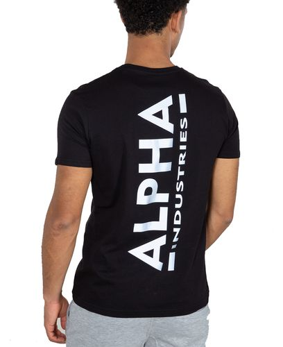 Alpha Industries Backprint - T-shirt - Svart (128507-03)