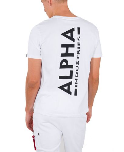 Alpha Industries Backprint - T-shirt - Vit (128507-09)