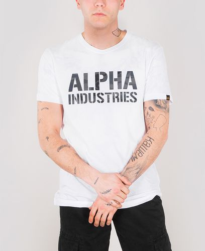 Alpha Industries Camo Print - T-shirt - Vit (156513-09)
