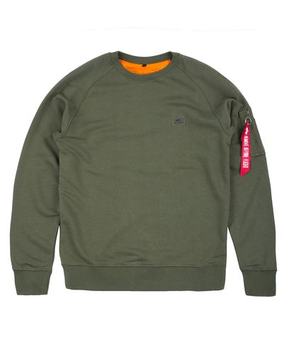 Alpha Industries X-Fit Sweat - Tröja - Grön (158320-257)