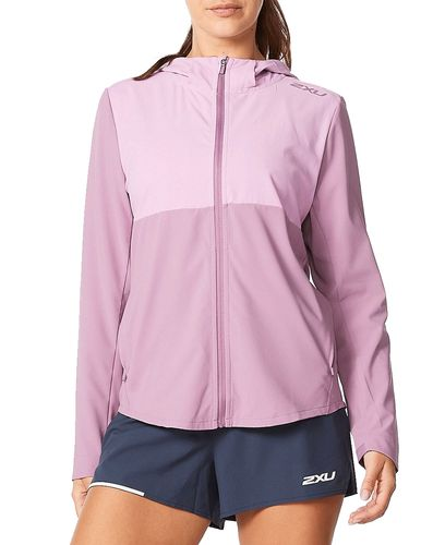 2XU Aero Wmn - Jacka - Orchid Mist/ Orchid Reflective (WR6538a-OR)