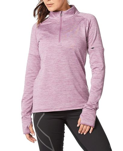 2XU Ignition 1/4 Zip Wmn - Tröjor - Orchid Mist/ Orchid Reflective (WR6562a-OR)