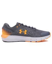 Under Armour Charged Rogue 2 Storm - Sko - Pitch Gray/ Lunar Orange (3023371-100)