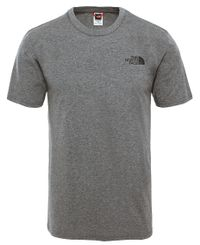 The North Face M Simple Dome - T-shirt - Grey Heather (0A2TX5JBV1)