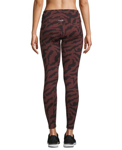 Casall Iconic Printed 7/8 - Tights - Escape Red (21501-258)