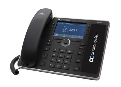 AUDIOCODES SFB 445HD IP-Phone PoE GbE black without the integrated sidecar and speed dial keys, with integrated (UC445HDEG-BW-R)
