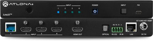 Atlona 4K HDR Three-Input HDMI Switcher and Receiver with HDBaseT input and Auto-Switching (AT-JUNO-451-HDBT)