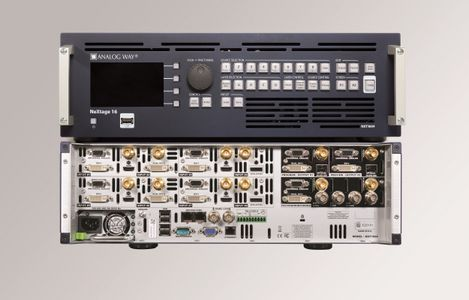 Analog Way - Premium Mult-Layer Seamless Switcher with 16 Scalers, 8 inputs, 2 outputs + Preview/ Mosaic output, NeXtage 16 (NXT1604)