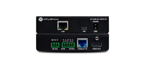 Atlona 4K/UHD HDMI Over 100M HDBaseT Receiver with Ethernet, Control and PoE (AT-UHD-EX-100CE-RX)